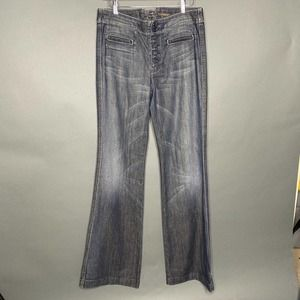 7 For All Mankind Hi Rise Button Fly Flare Jean 28
